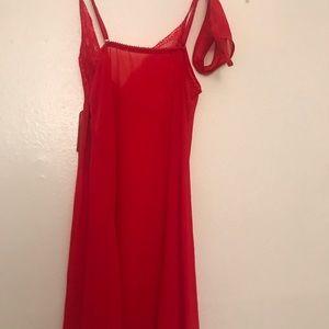 Red short lingerie